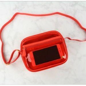 Stephanie Johnson clear red bag